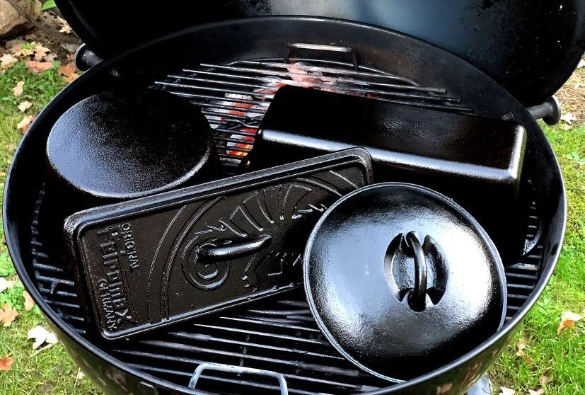 Dutch Oven eingebrannt mit Pflegewachs