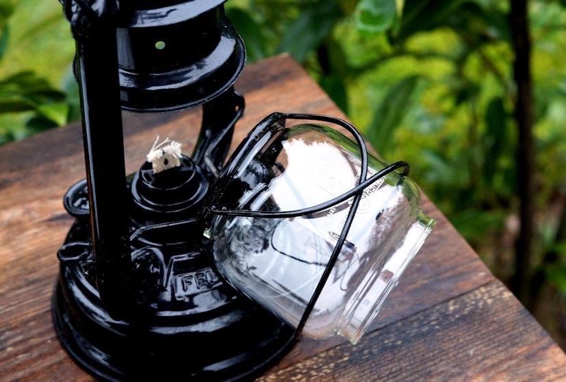 Feuerhand Lampenglas gereinigt