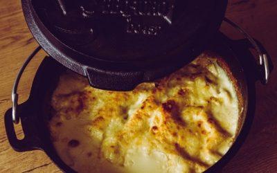 Dutch Oven Gemüse Lasagne