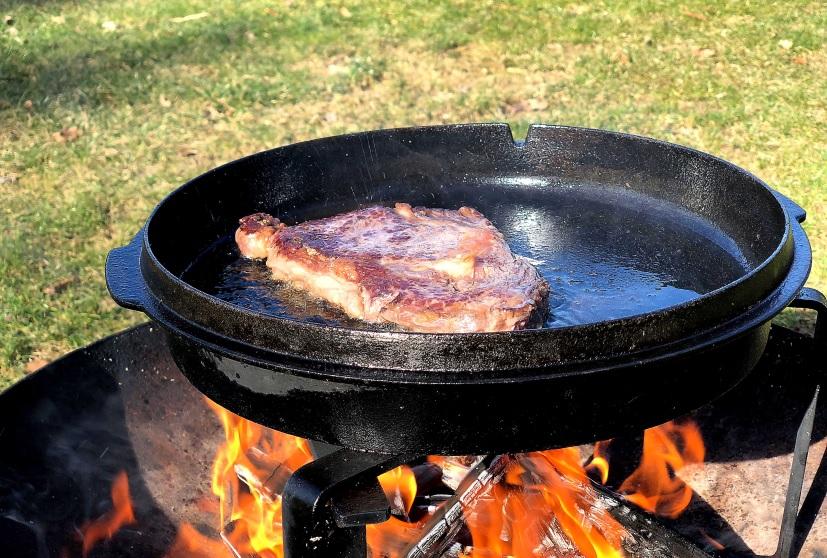 Steak im Deckel